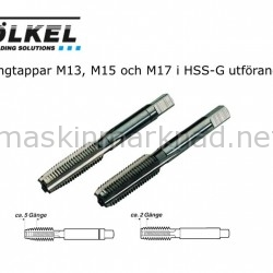 Völkel M13 M15 och M17 gängtappar1431269984